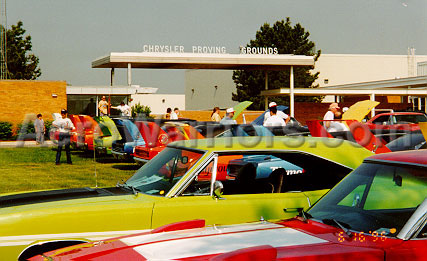 [Winged Cars at the Chrysler Proving Grounds]