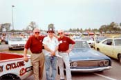 [Ford honcho Charlie Gray with John Bach and Bill Holbrook]