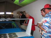 [Buddy Baker and Larry Rathgeb along side the 'fake' #88 Daytona]