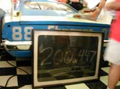 [The 200.447 MPH pit board donated to the Museum by Larry Rathgeb]