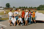 [2004 Aero Warrior Reunion attendees at the International Motorsports Hall of Fame]