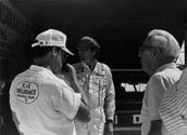 [Harry Hyde, Bobby Isaac And A USAC Official (Probably Joe Petrali)]