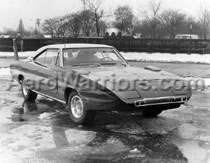 [1970 Daytona - Passenger Side From Front (black and white)]
