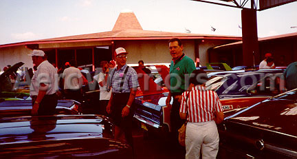 [Buddy Baker and Larry Rathgeb Viewing the Cars]